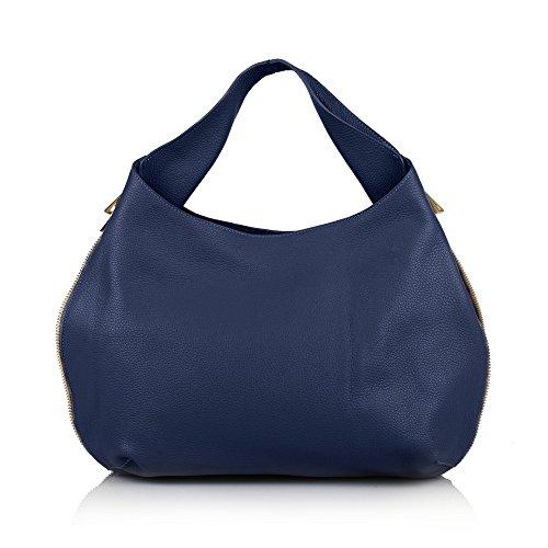 vrouwenblauw 71064 voor een Schoudertas andere van huid myitalianbag PqCgvnq