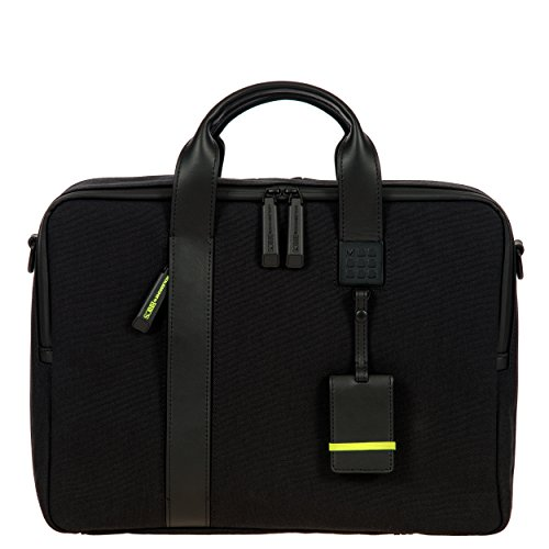 Bric's Men's Moleskine Tablet Business Laptop Briefcase, Black, One Size by Bric's