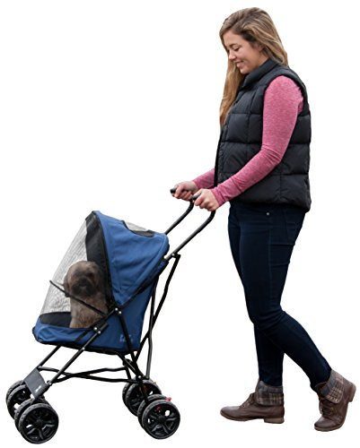 Pet Gear Travel Lite Pet Stroller for Cats and Dogs up to 15-pounds, Navy by Pet Gear