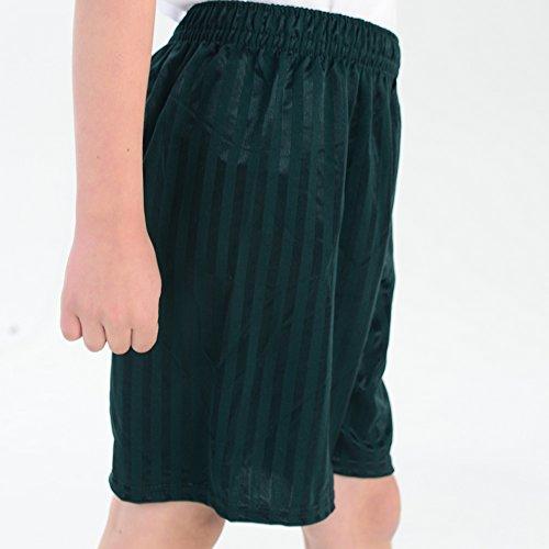 Gym Unisex da Giochi Stripe da Bambina ginnastica Bottiglia da Pantaloncini Pe Shadow scuola bambino Verde Hd7XqIIxw