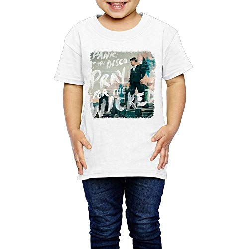 Baby Panic! at The Disco Pray for The Wicked Cotton Short Sleeve Top Tees Boys Girls Classic Shirts 5-6 Toddler White
