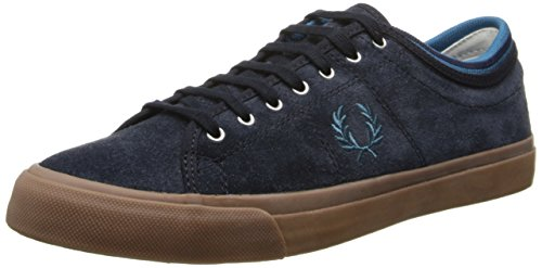Fred Perry Men Kendrick Tipped Cuff Suede Fashion Navy/Enamel Blue
