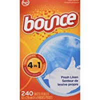 Deals on 240CT Bounce Fresh Linen Scented Fabric Softener Dryer Sheets