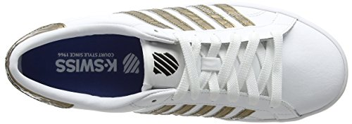 cheap sale countdown package reliable cheap price K-Swiss Women's Belmont So Low-Top Sneakers White (White/Gold/Black) ebay online HTgSA