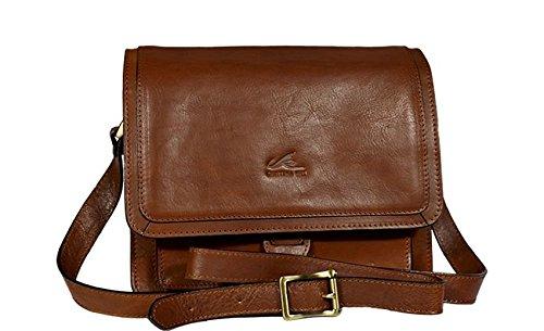 Schöne praktische Leder Braune italienische Handtasche aus hochwertigem Leder Cristina Rui 132089 über die Schulter clS1mEwdGF