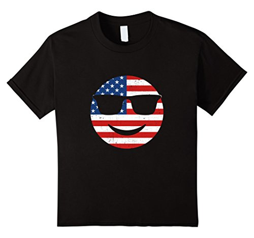 unisex-child American Sunglasses Emoji T Shirt 6 - Emoji Sunglasses Text
