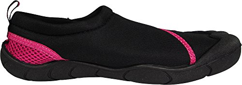 Water Black Norty Skeletoe Slip Shoes on Sock Fuchsia Aqua Ladies xxIwqCF4v