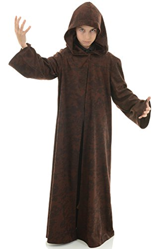 Underwraps Big Boy's Children's Cloak Costume Accessory, Brown, Large Childrens Costume, Brown, Large
