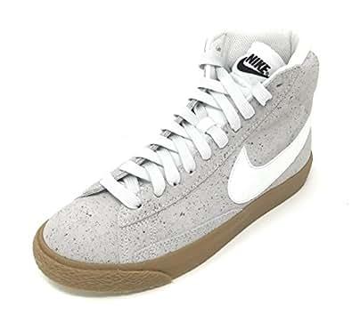 Amazon.com | Nike Blazer MID (GS) Off White/White - Black