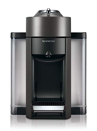 Nespresso Vertuo Evoluo Coffee and Espresso Machine by De'Longhi, Graphite Metal (Certified Refurbished)