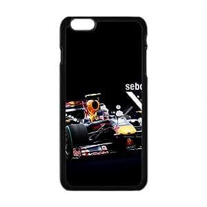 Happy Sebastian Vettel Red Bull Black Phone Case for Iphone6 plus hjbrhga1544