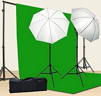 Chromakey Green Screen Kit 800w Photo Video Lighting Kit 10x12 feet Green Screen and Backdrop Support System Included Ul15 10x12 Green By Fancier U15 10x12 Green from fancierstudio