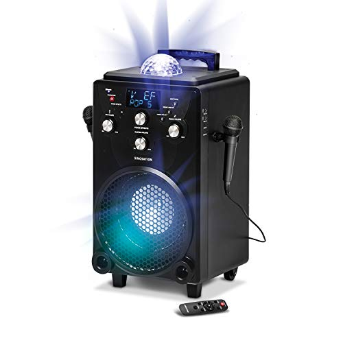 Professional Karaoke Machine for Adults and Kids - Singsation XL Portable Karaoke System - 60 Voice & 10 Sound Effects, 2 Karaoke Mics, 25 Room-Filling Light Show & Works w/Bluetooth