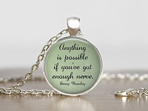 amazon com ginny weasley quote necklace harry potter jewelry