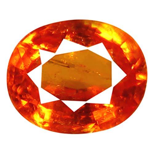1.05 ct AAA Oval Shape (7 x 6 mm) Unheated/Untreated Fanta Orange Tanzanian Spessartine Garnet Genuine Loose Gemstone