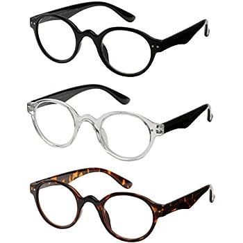 20a1b208161e Reading Glasses 3 Pair Spring Hinge Professer Readers for Men and Women Fashion  Glasses for Reading +1