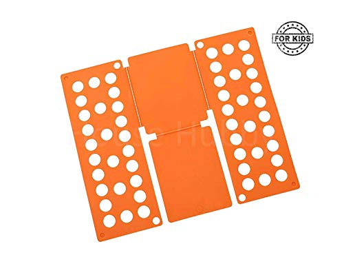 House Hubby Children T Shirt and Pants Folding Board Clothes Organizer for Children (Orange) (Shirt T Flop Folder Flip)