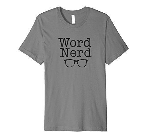 (Word Nerd Dorky Glasses Graphic Fitted Tee Shirt)