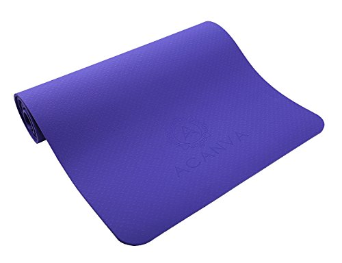 Acanva TPE Non-Slip Yoga Mat with Carrying Bag and Strap