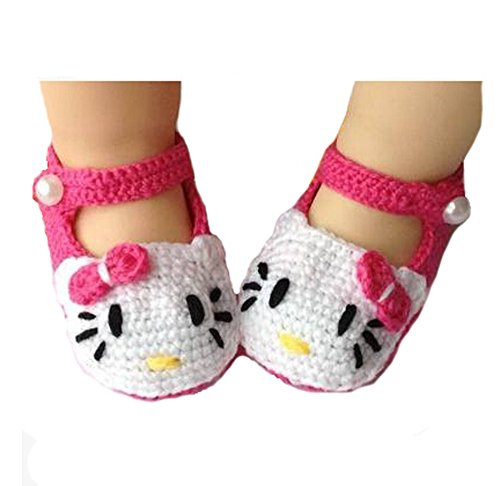 Handmade Toddler Baby Girl Shoes Baby Crochet Shoes Knit Flower