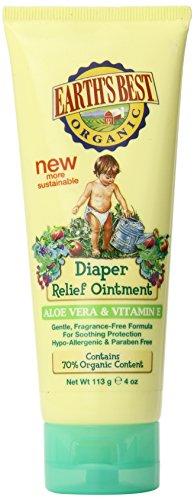 Earth's Best Diaper Relief Aloe Vera & Vitamin E, 4 Ounce