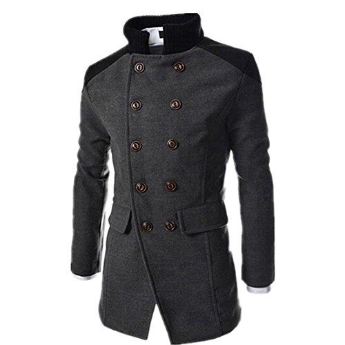 Double Breast Wool Jacket - 5