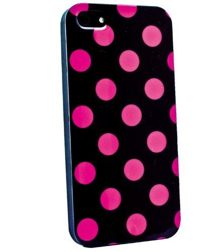 Phonix IP5POIBP mobile phone case-Housse pour Téléphone portable Noir/Rose