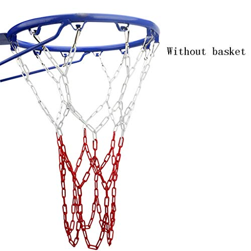 Cxp Boutiques Basketball Net Bag Iron Chain Basketball Net Standard Thick and Durable Wear-Resistant Outdoor Metal Basket Net Iron Chain Net ()