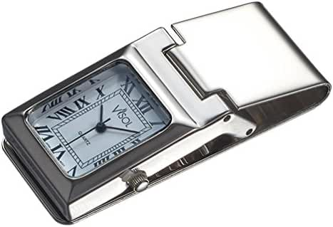 Personalized Visol White Dial Watch Money Clip with Free Engraving