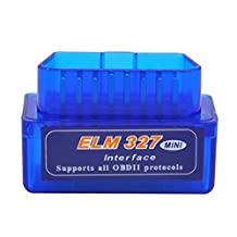 KINGMAS Mini ELM327 V2.1 OBD2 OBD II Bluetooth Car Auto Diagnostic Scanner Tool for Android Devices and Windows