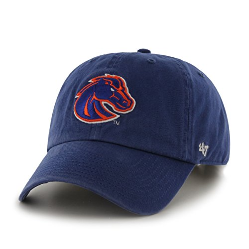 State Boise Broncos Gear ('47 NCAA Boise State Broncos Clean Up Adjustable Hat, One Size, Royal)