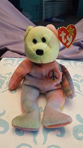 PEACE the Tye-Dye bear Ty Beanie Baby - Ty Baby Beanie Dye