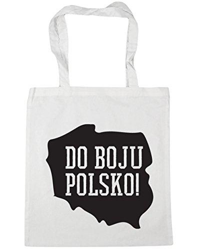 HippoWarehouse Do boju Polsko Go Poland Tote Shopping Gym Beach Bag 42cm x38cm, 10 litres White