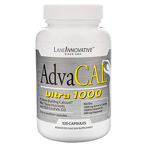 Lane Labs - AdvaCAL Ultra 1000, Bone Building Calcium, Including Vitamin D3 and Magnesium, Easy Absorption (120 Capsules)