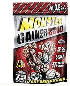 Carbohidratos MONSTER GAINER 2200 - Suplementos Alimentación y Suplementos Deportivos - Vitobest (Limón, 3 Kg)