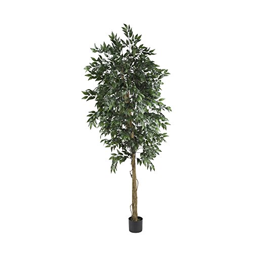 (Nearly Natural 6' Smilax Tree Green)