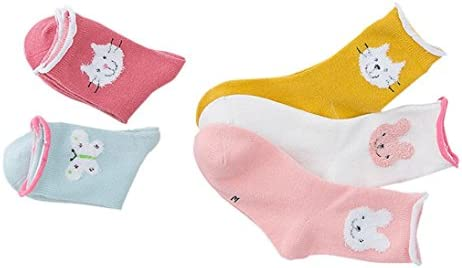 DIGOOD 1 Pairs Boys Girls Knitting Cotton Winter Warm Animal Step Socks