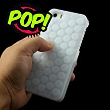 Pop Bubble Case for iphone 6/6S Plus,Pop Pop Pop Novelty Sound Bubble Wrap Hybrid Silicone Hard Case Shell Cover for Apple iphone 6/6S Plus 5.5 inch (Bubble White)