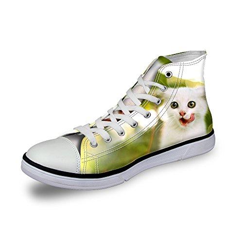 判定イベント影のあるThiKin スニーカー キャンバス シューズ 帆布 個性的 かわいい 動物 柄 シンプル 3Dプリント カジュアル 靴 軽量 通気 おしゃれ ファッション 通勤 通学 プレゼント