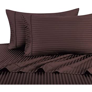 Amazon Com Deluxe Striped Bed Sheet Set 100 Percent