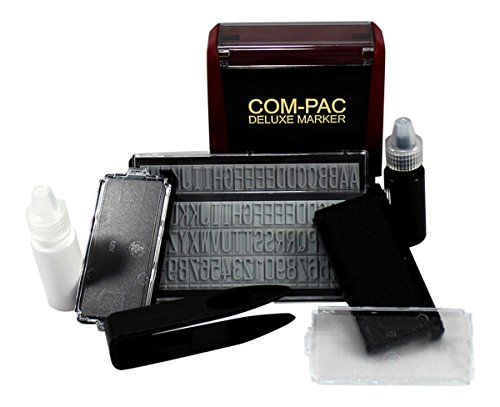Com-Pac Deluxe Clothing Name Stamper - Fabric Rubberstamps Marking Kit - Do-It-Yourself Stamping and Labeling for Clothes
