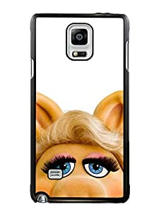 Provide Personalized Customized Miss Piggy Black Phone Case For Samsung Galaxy Note 4 Cover Case