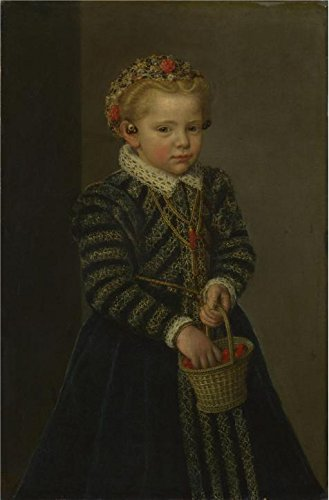 - 'Netherlandish-A Little Girl With A Basket Of Cherries,1570s' Oil Painting, 18x27 Inch / 46x70 Cm ,printed On Perfect Effect Canvas ,this Amazing Art Decorative Prints On Canvas Is Perfectly Suitalbe For Wall Art Decoration And Home Gallery Art And Gifts
