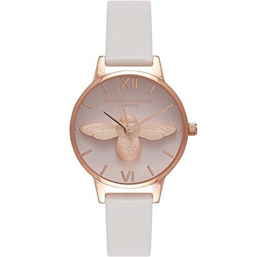 Olivia Burton Reloj analógico Quartz Piel Beige ob16am85: Amazon.es: Relojes