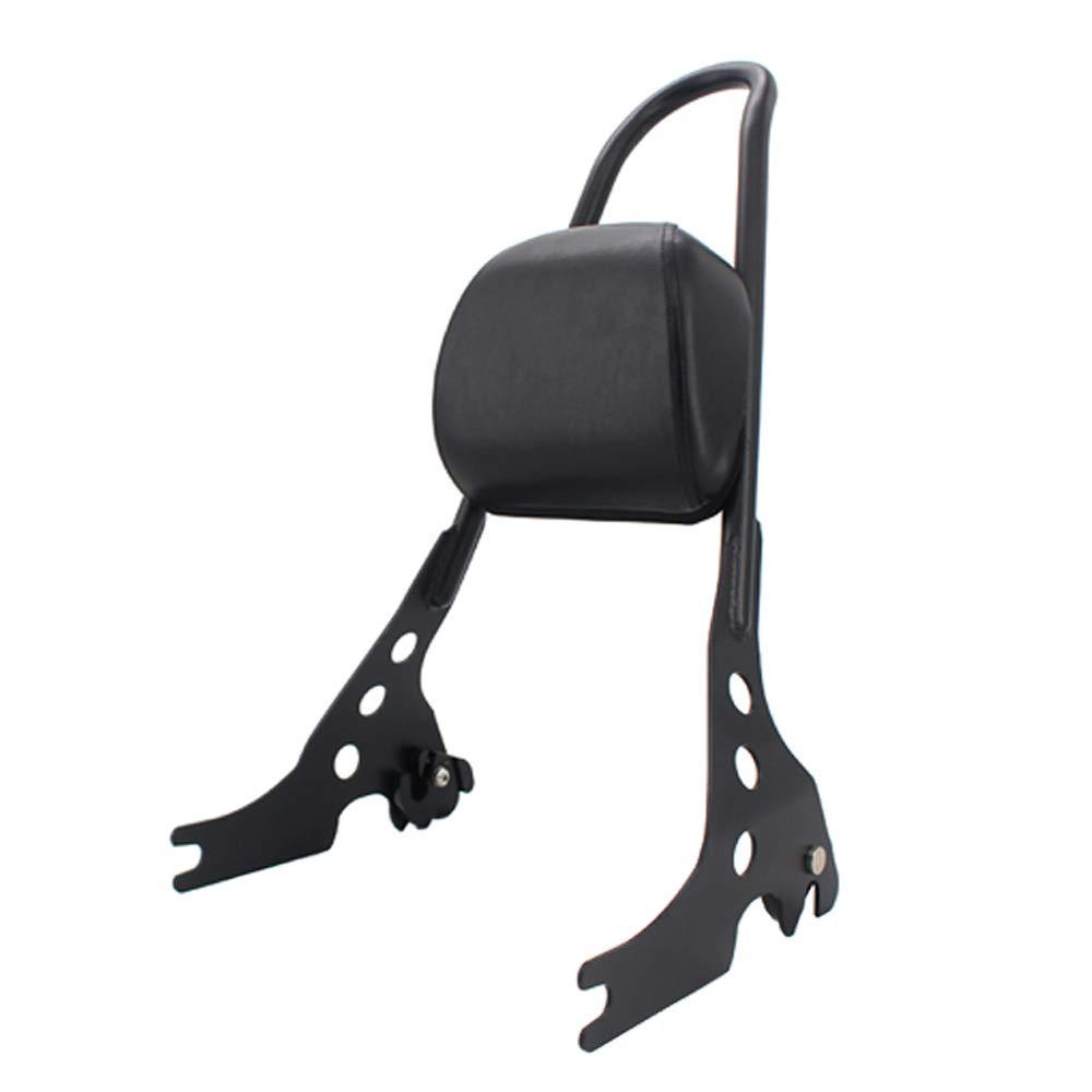 Black Motorcycle Luggage Detachable Sissy Bar Passenger Seat Backrest Cushion Pad Black For Harley Sportster 883 1200 XL 883C 883R