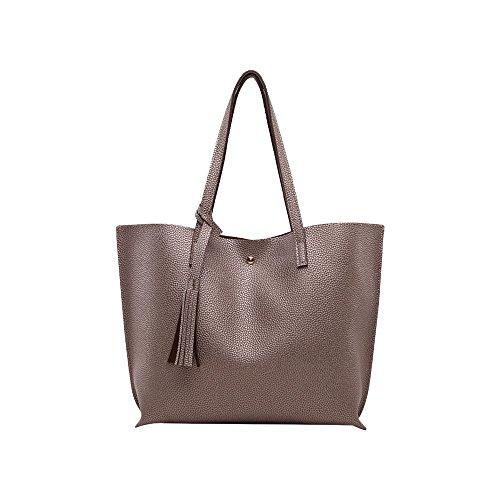 Shoulder Bag Women Ya Jin Top Tote Leather For Champagne Handbag Magnetic Handle Stylish Closure Bags wrYgYqXx