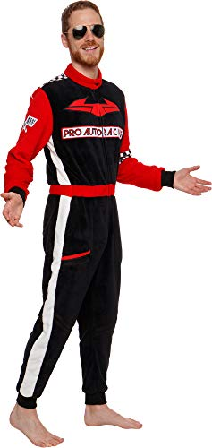 Cheap Make At Home Halloween Costumes (Silver Lilly Uniform Pajamas - Adult One Piece Cosplay Race Car Driver Costume (Red,)