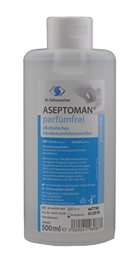 ASEP Tomandwill Perfume libre Higiene de manos 500 ml dispensador de botella