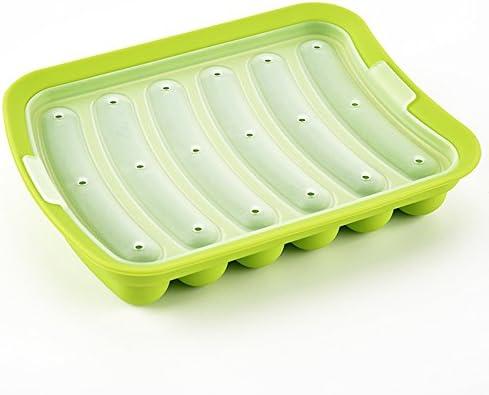 Aubess - Molde de silicona para hacer salchichas con 6 cavidades ...
