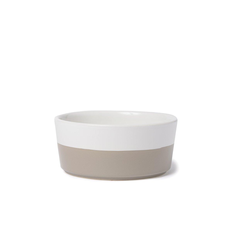 Waggo Dipper Ceramic Dog Bowl Vintage Grey, Large